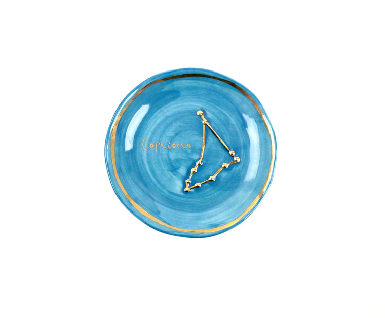 Capricorn Zodiac Sign Trinket Dish