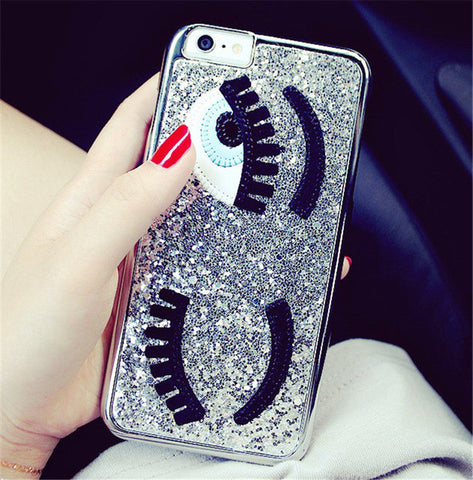 Silver Sequins Eyes Phone Case for iPhone 6/6S - Lulugem.com