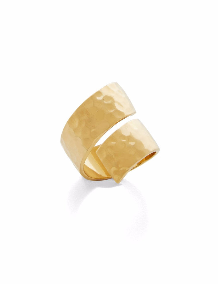 Madison Swirl Gold Band Ring
