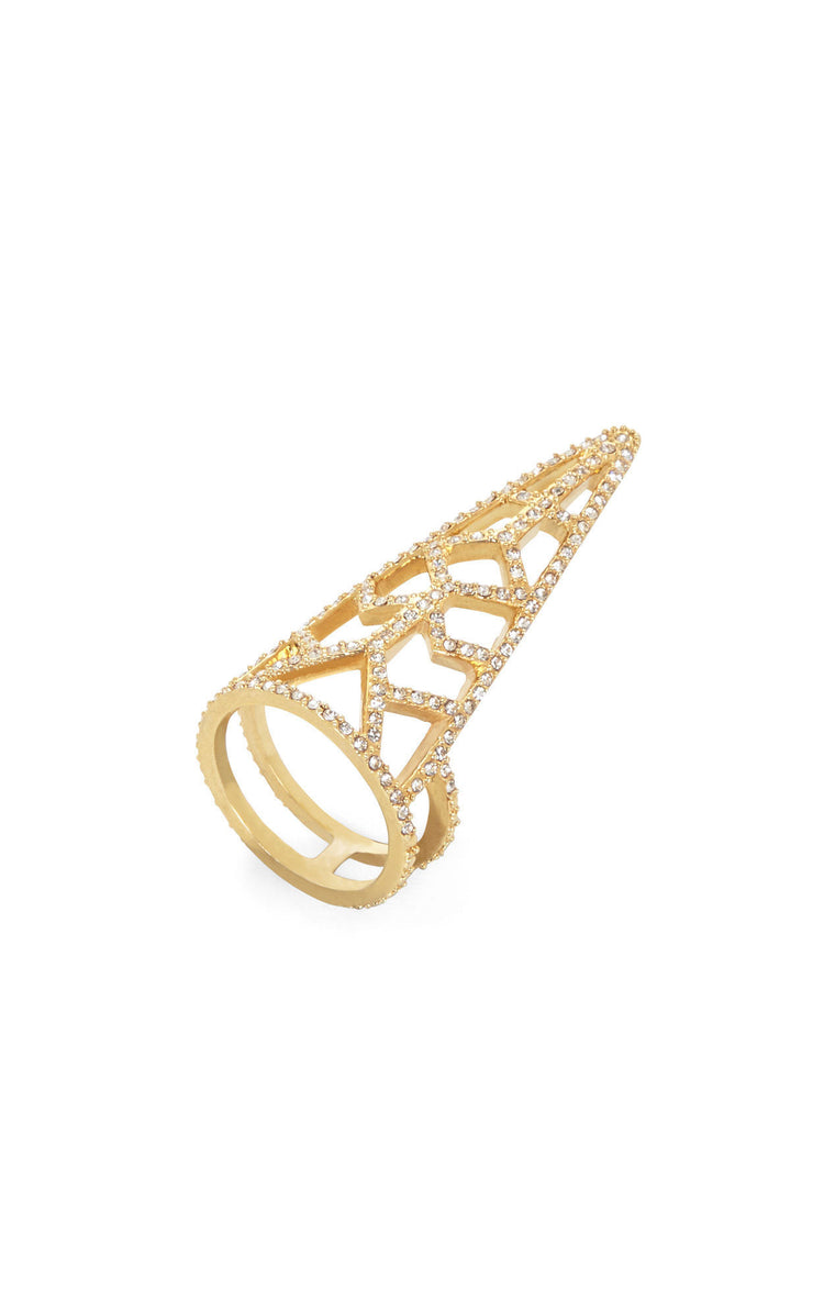 Pave Trinity Gold Ring