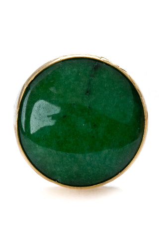 Aventurine Gemstone Gold Ring