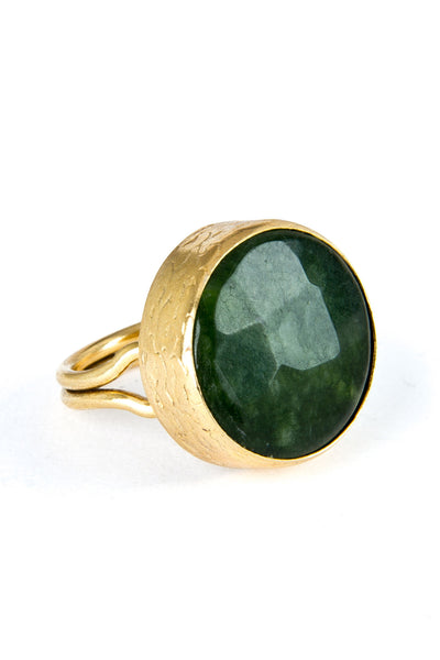 Aventurine Gemstone Gold Ring - Lulugem.com