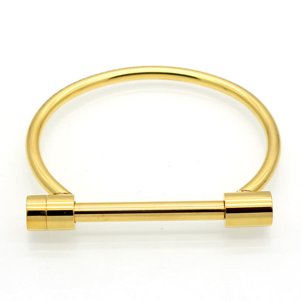 Nemesis Gold Shackle Cuff Bracelet