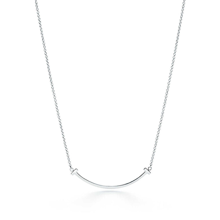 The T Smile Silver Necklace