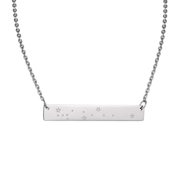 Virgo Zodiac Constellation Bar Necklace