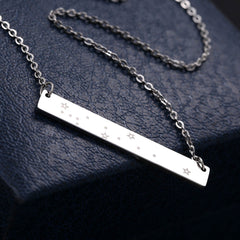 Gemini Zodiac Constellation Bar Necklace