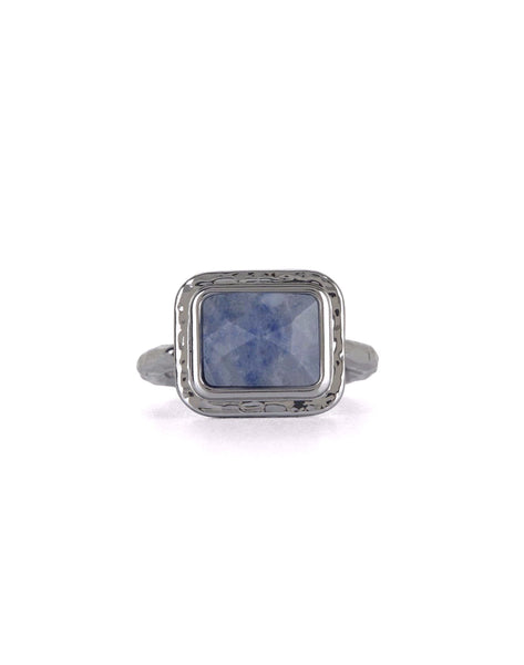 Blue Aventurine Gemstone Silver Ring