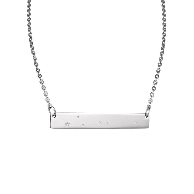 Cancer Zodiac Constellation Bar Necklace