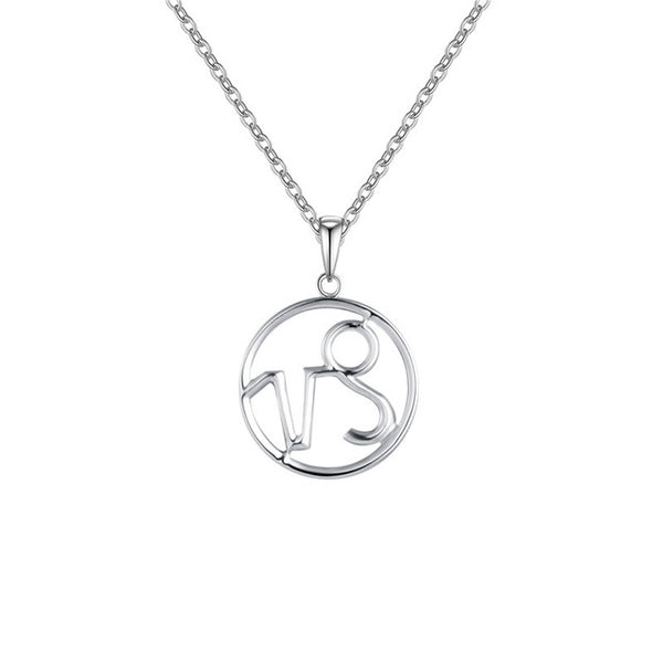 Capricorn Zodiac Sign Necklace Silver