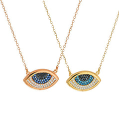 Kismet Evil Eye Necklace Rose Gold