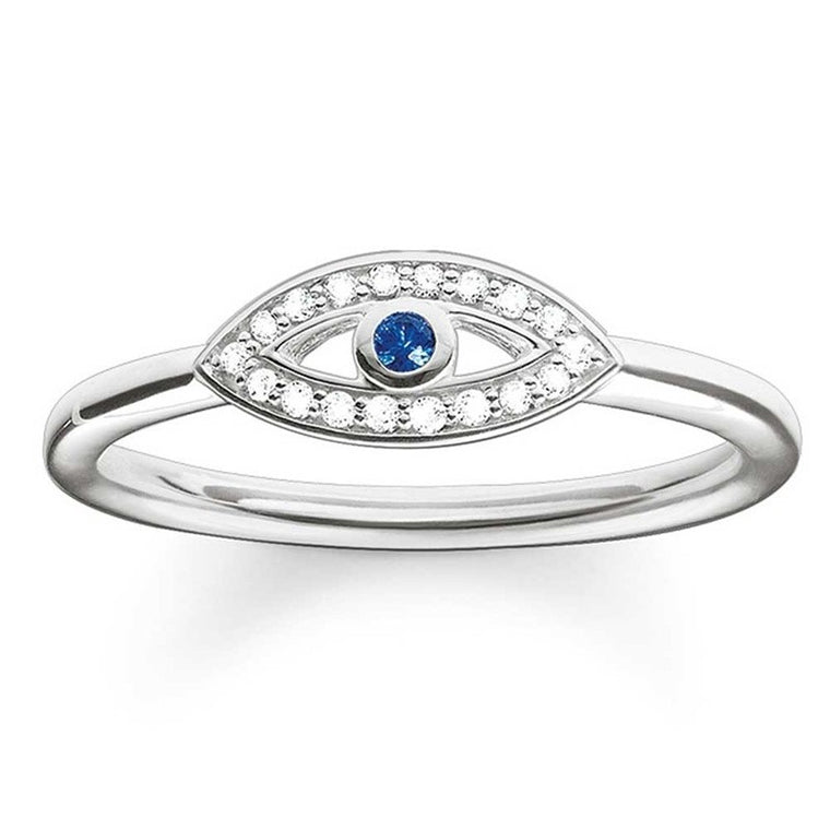 Evil Eye Nazar Silver Ring