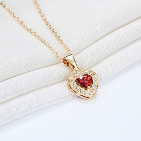 Bar Drop Leaf and Swarovski Gold Necklace - Lulugem.com