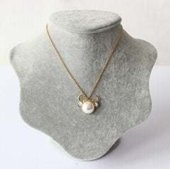 Taurus Zodiac Golden Pearl Necklace
