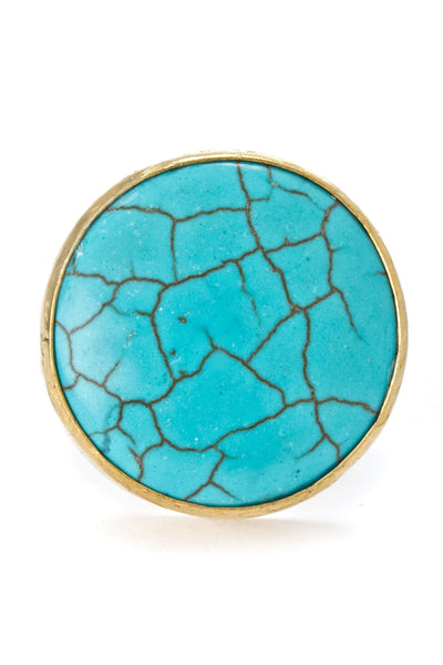 Turquoise Gemstone Gold Ring