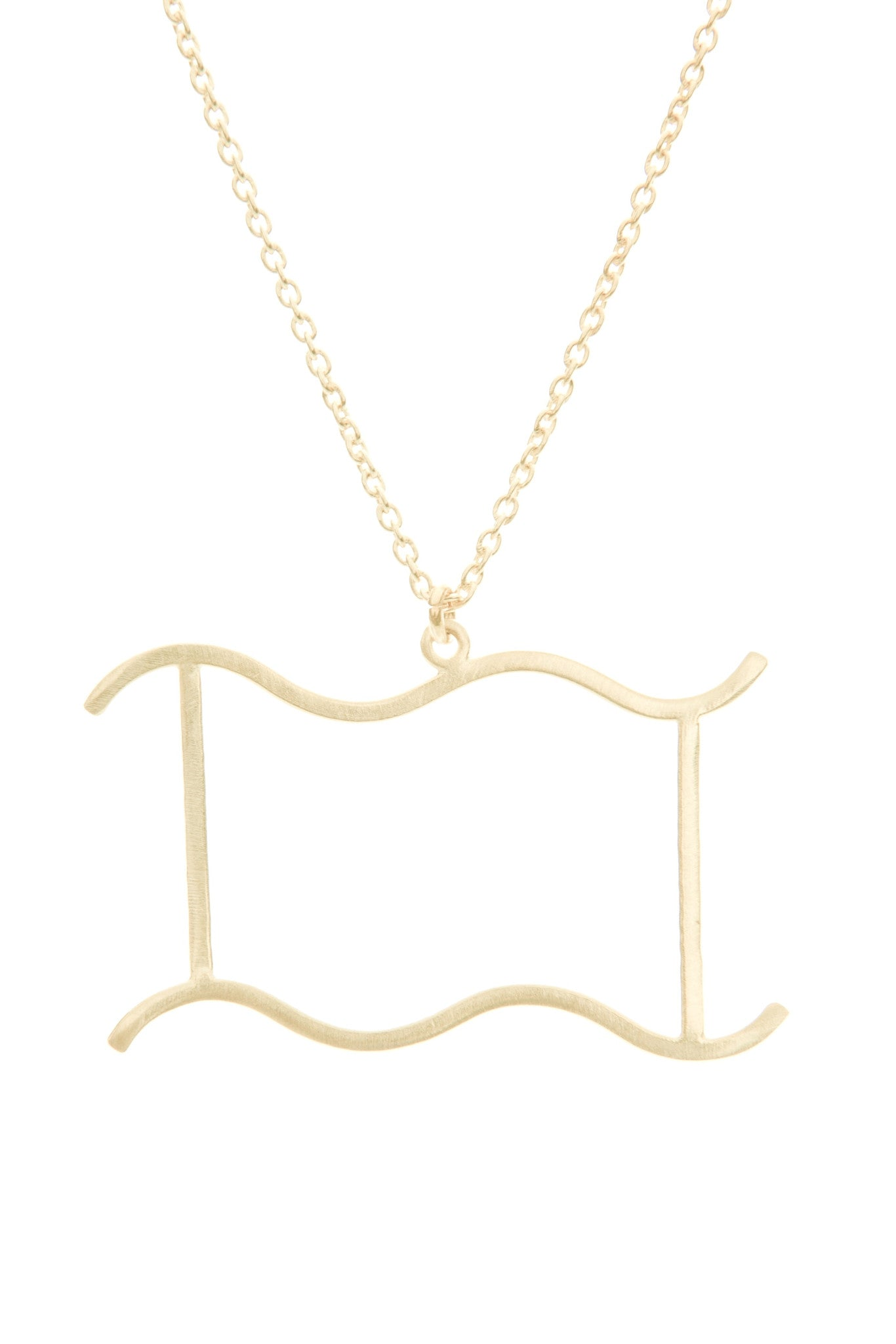 Aquarius Zodiac Gold Necklace - Lulugem.com