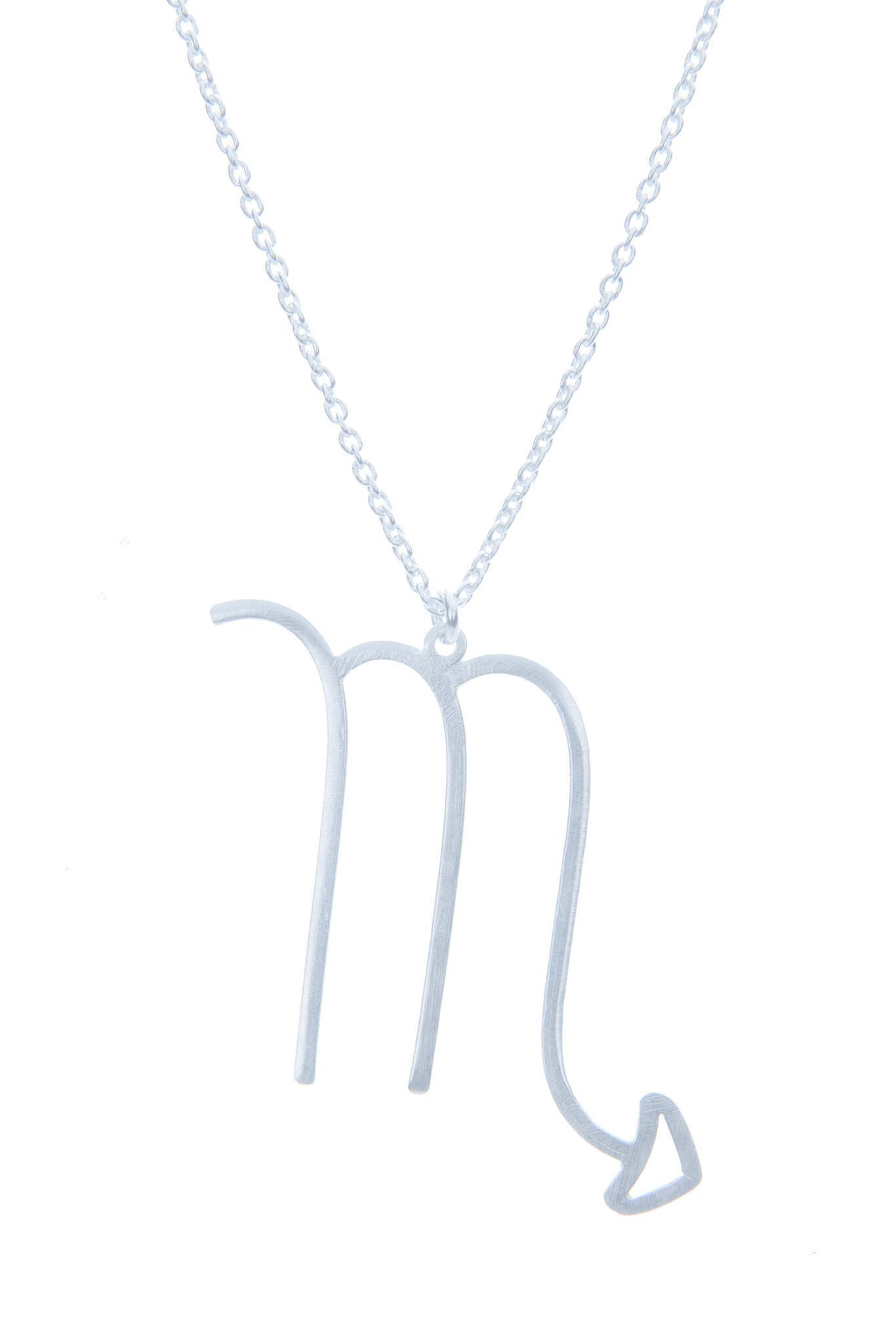 Scorpio Zodiac White Gold Necklace
