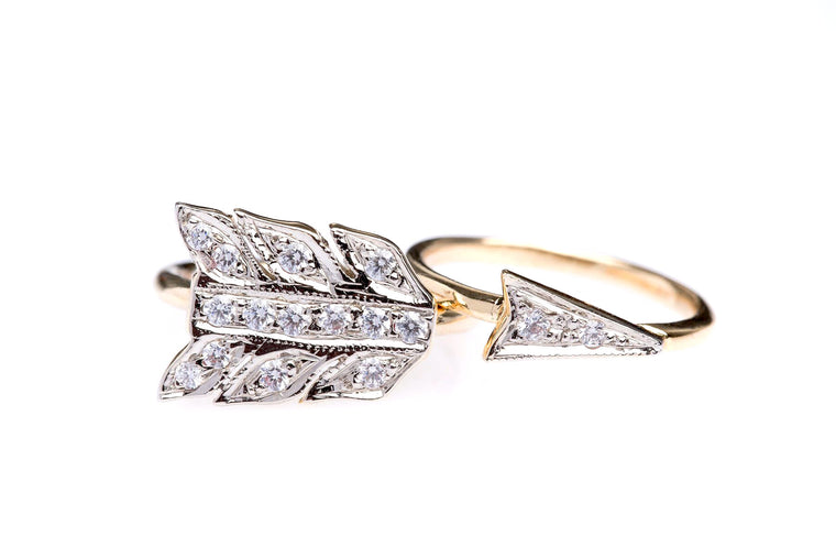 Lulugem Arrow Conversion Ring Set