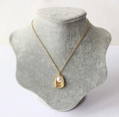 Virgo Zodiac Golden Pearl Necklace