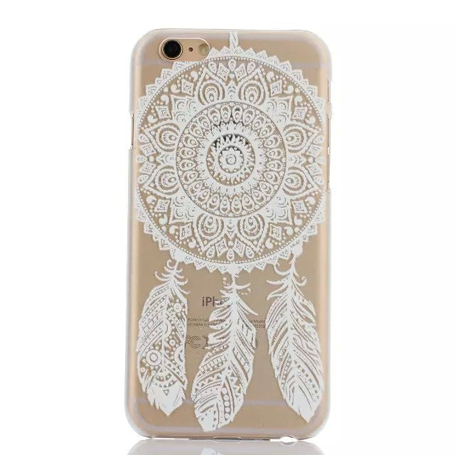 DreamCatcher Clear & White Phone Case for iPhone 6 Plus