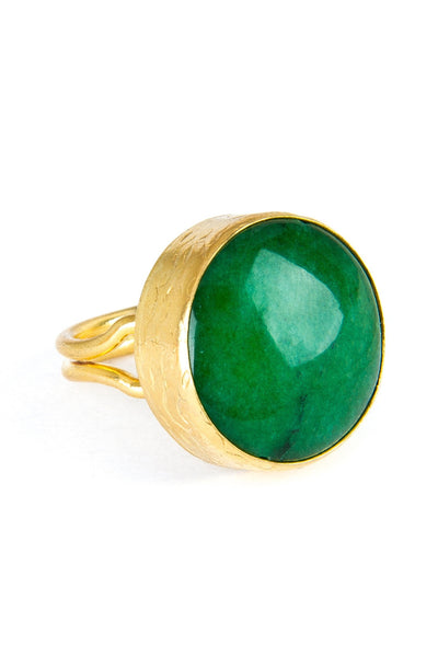 Jade Gemstone Gold Ring