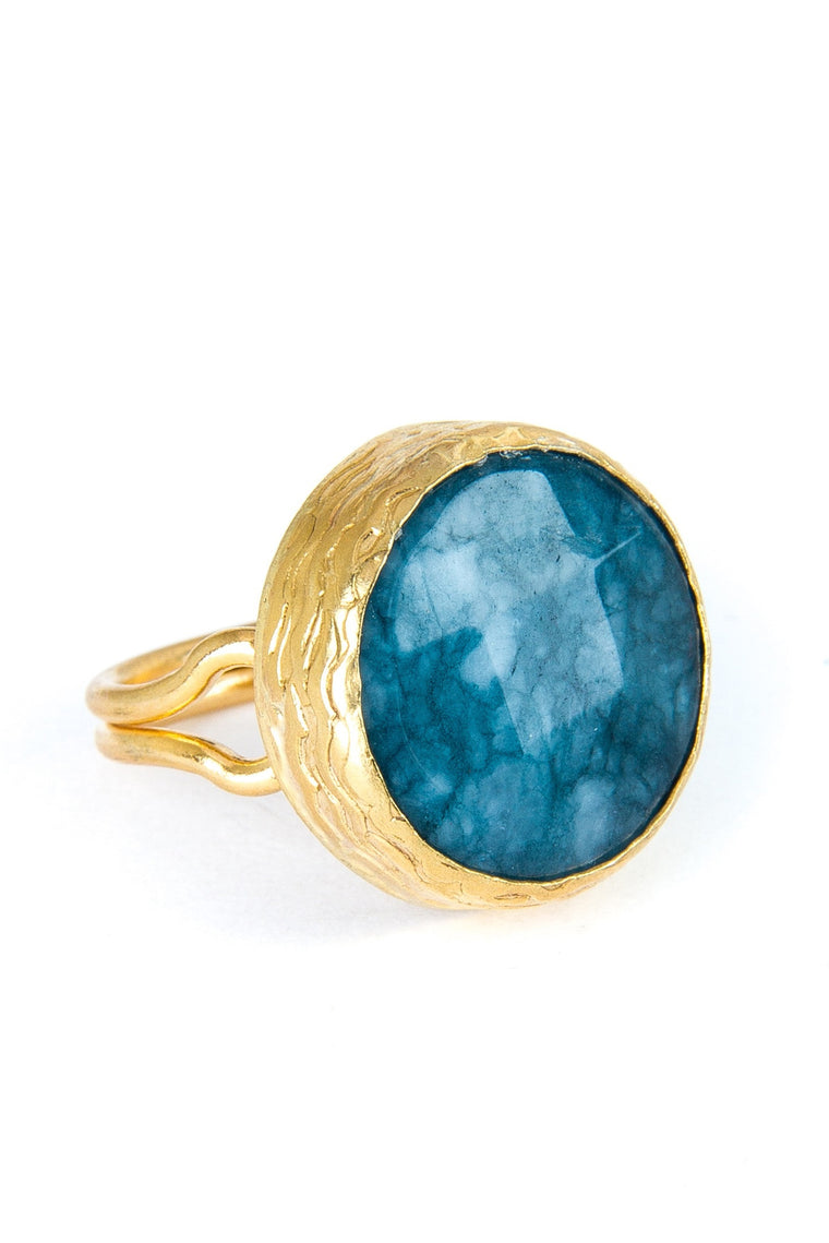 Sodalite Gemstone Gold Ring