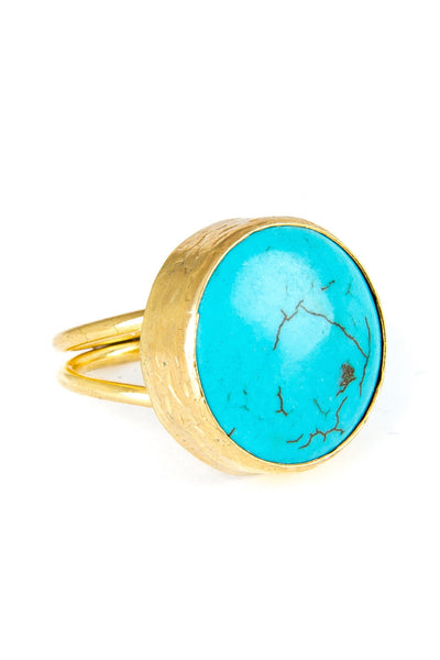 Turquoise Gemstone Gold Ring - Lulugem.com