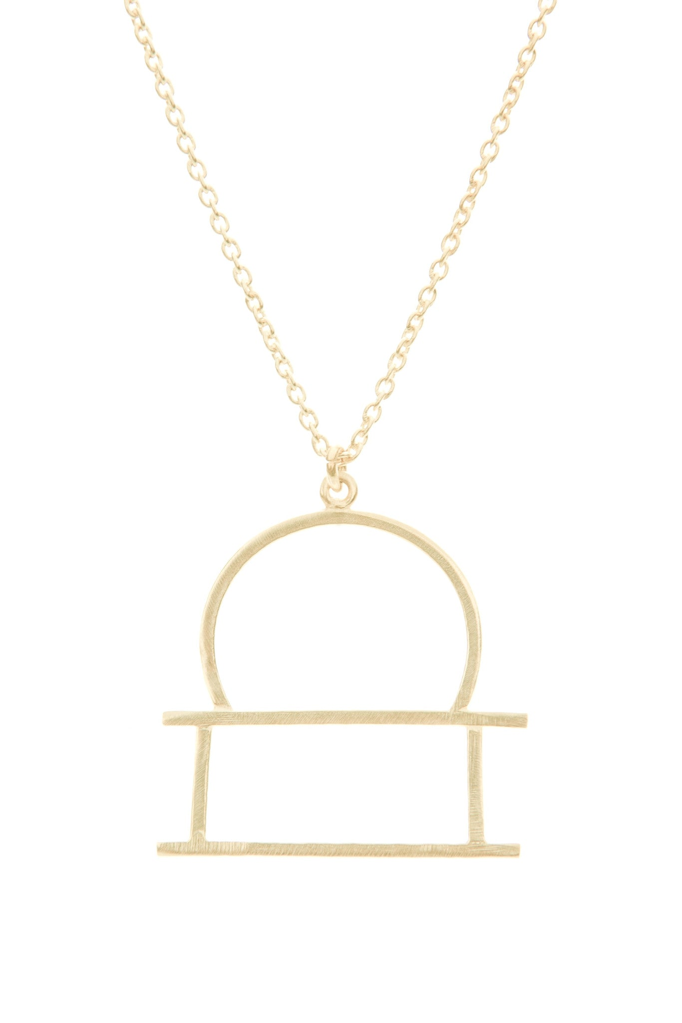 Libra Zodiac Gold Necklace