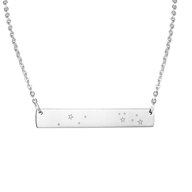 Leo Zodiac Constellation Bar Necklace
