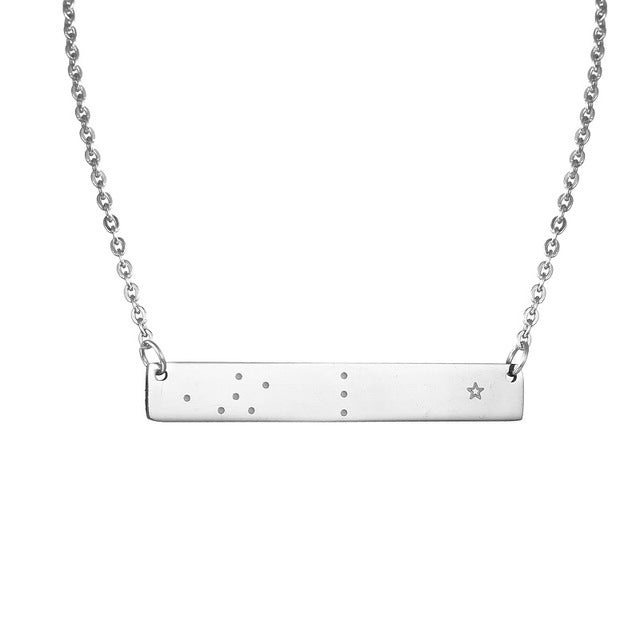 Libra Zodiac Constellation Bar Necklace