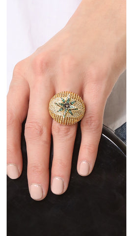 Aquamarine Gold Ring - Lulugem.com