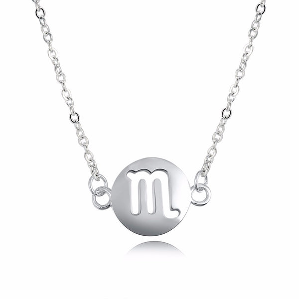 Scorpio Zodiac Sign Necklace