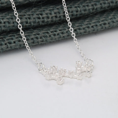 Aries Zodiac White Gold Necklace - Lulugem.com