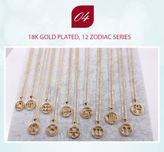 Leo Zodiac Sign Necklace Gold