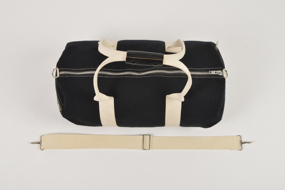 Black Knit Duffel Bag