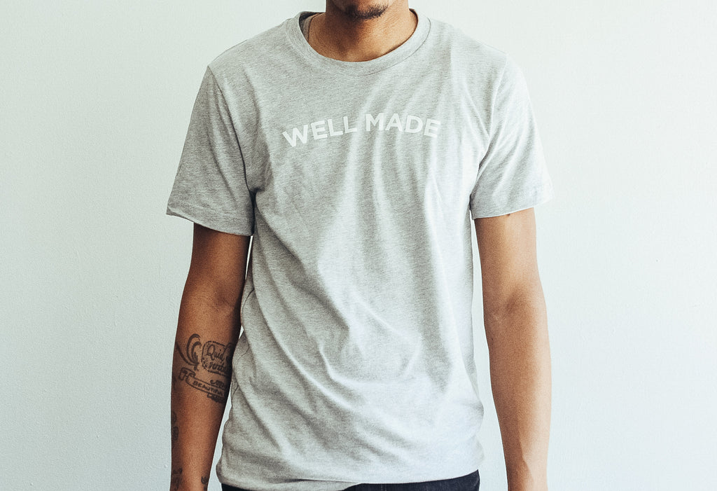 Heather Gray Proper Play Well Made Tee