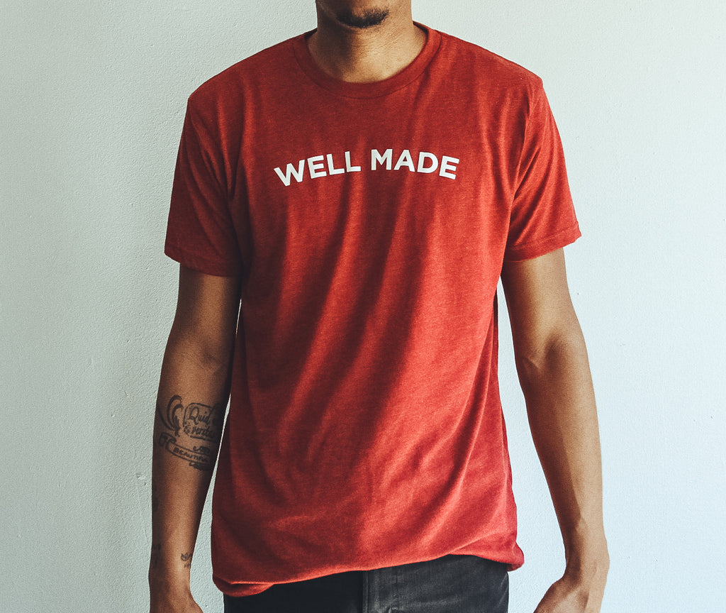 Heather Red Proper Play Well Made Tee