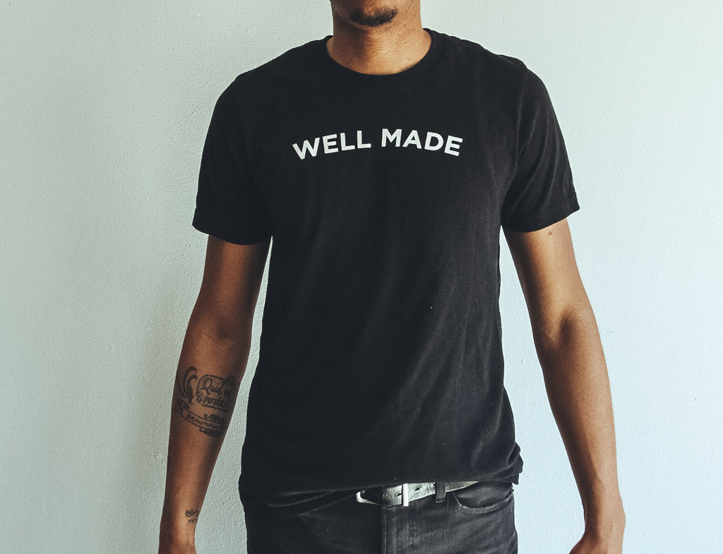 Black Proper Play Well Made Tee