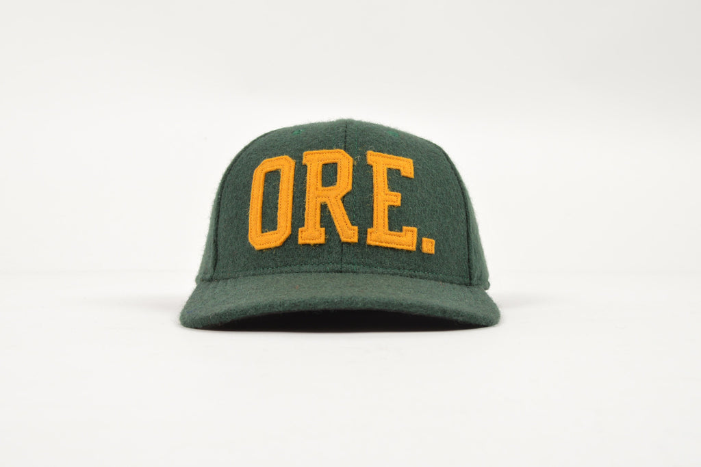 oregon coast baseball cap state apparel portland caps handmade green gold hat smith ave