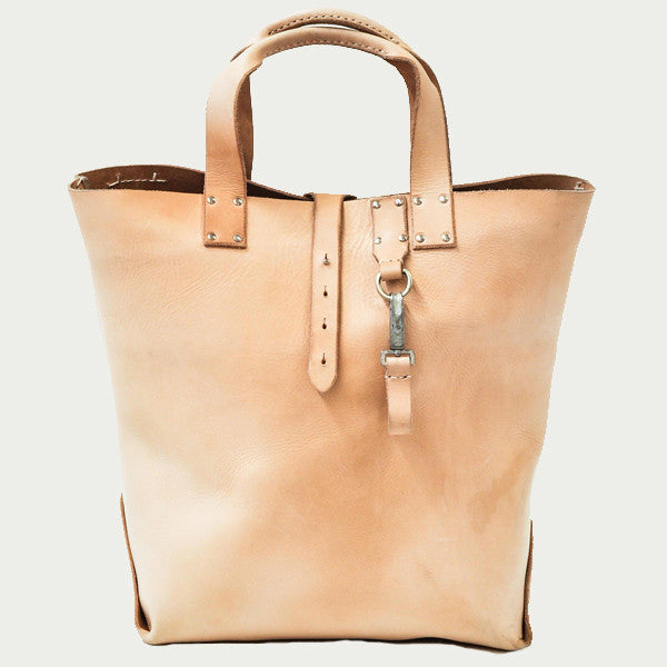 Vegetable Tanned Leather Tote