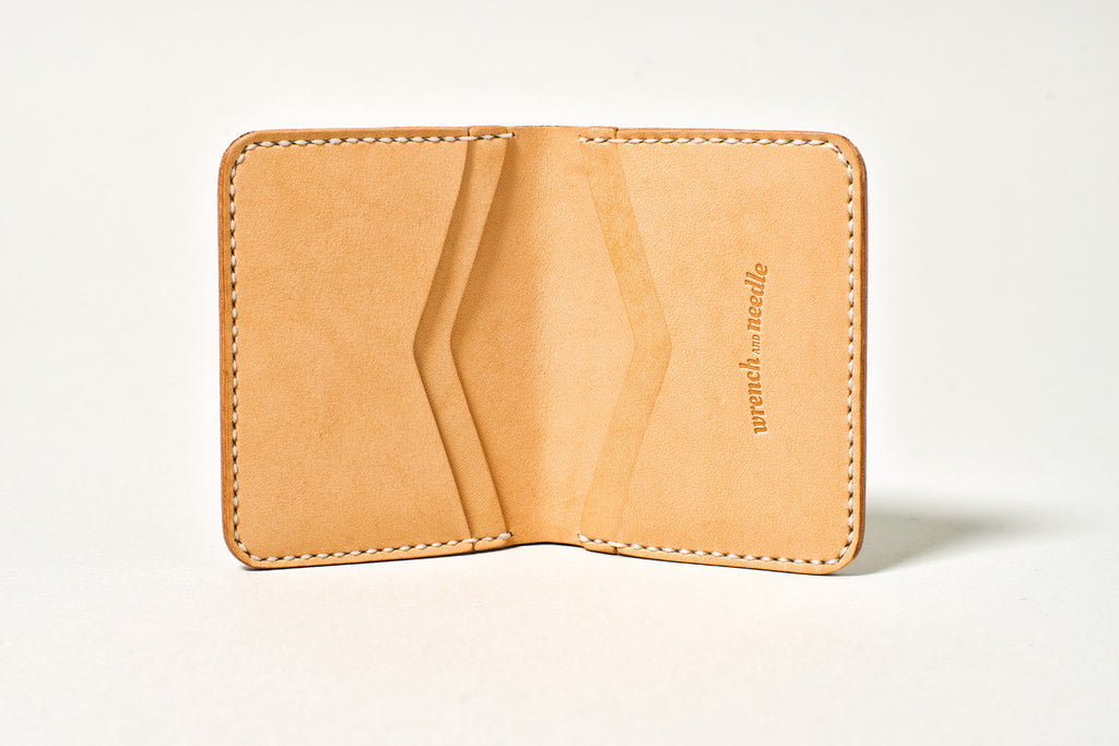 a759ddca360c Wrench & Needle Handmade Hermann Oak Leather Mini Wallet | Smith Ave.
