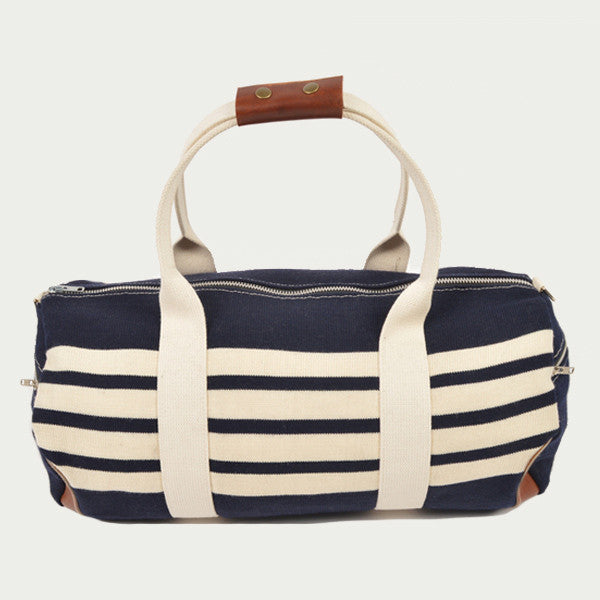 Navy Knit Duffel Bag