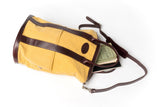 Brown and Yellow Helmet Bag