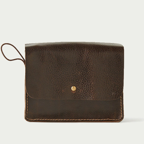 Chocolate Brown Dopp Kit