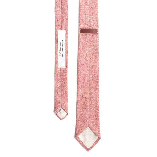 Rose Wool Tweed Necktie