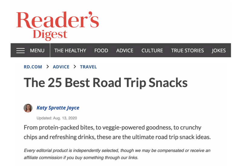 Reader's Digest The 25 Best Road Trip Snacks