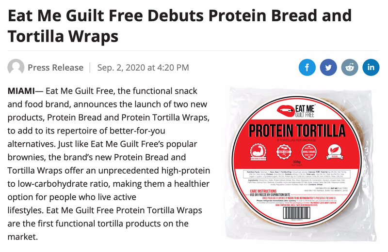 Nosh: EMGF Debuts Protein Bread and Tortillas