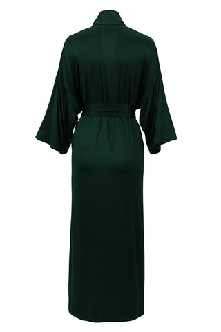 Kelly kimono maxi color forest green