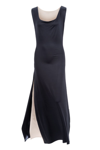 Joy reversable dress in black and champagne by Chambres Sweden