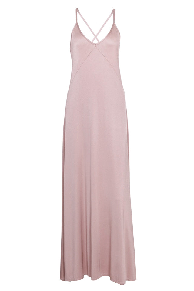 Sienna dress maxi-dustypink