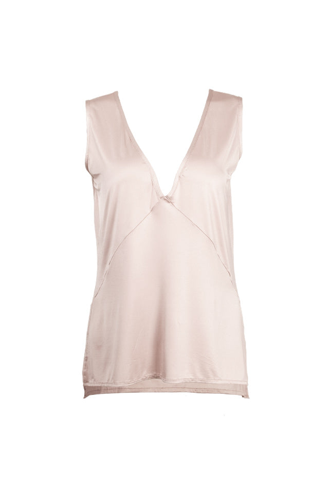 Sophia V-Neck Top - Champagne